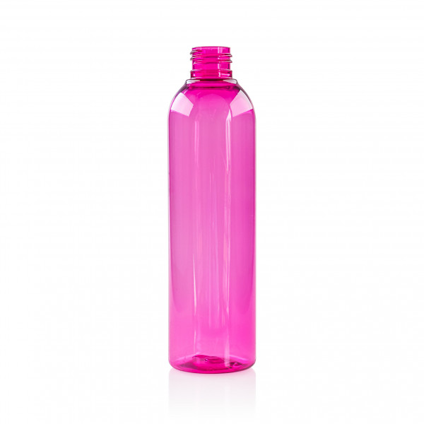 250 ml flacon Basic Round PET rose 24.410