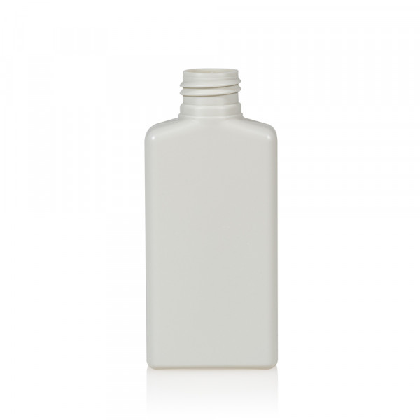 100 ml flacon Mailbox Rectangle HDPE blanc 24.410