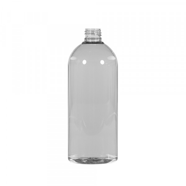 500 ml flacon Basic Round recyclage PET transparent 24.410