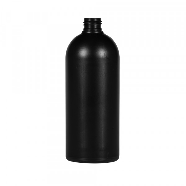 500 ml flacon Basic Round HDPE noir 24.410