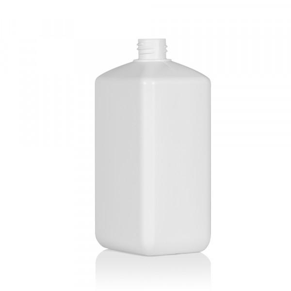 1000 ml flacon Standard Square HDPE blanc 28.410