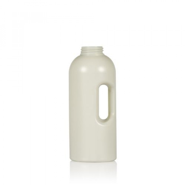 1000 ml flacon doseur Compact Round recyclage HDPE ivory One2dose D43