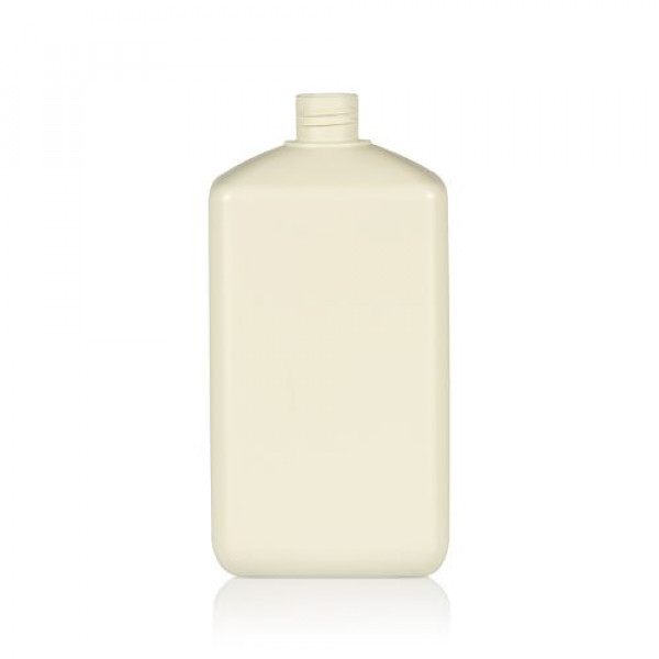 1000 ml flacon Standard Square recyclage HDPE blanc 28.410