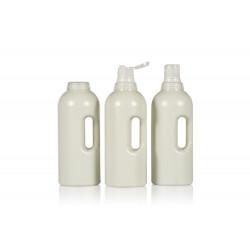 Flacons Compact Round de 100% plastique HDPE recyclé