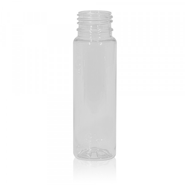 100 ml flacon de jus Juice mini shot PET transparent 28PCO
