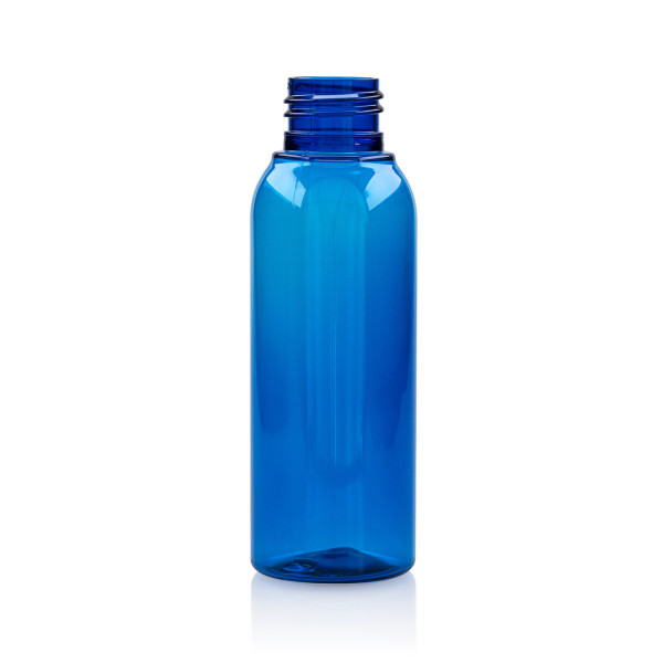 100 ml flacon Basic Round PET bleu 24.410