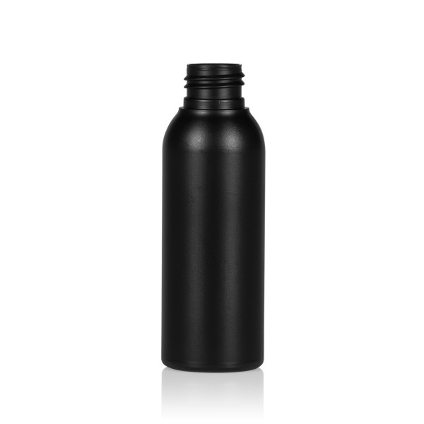 100 ml flacon Basic Round HDPE noir 24.410
