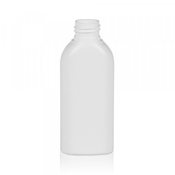 100 ml flacon Basic Oval HDPE blanc 24.410
