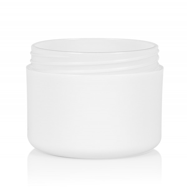 100 ml pot Frosted Soft PP blanc dubbelwand