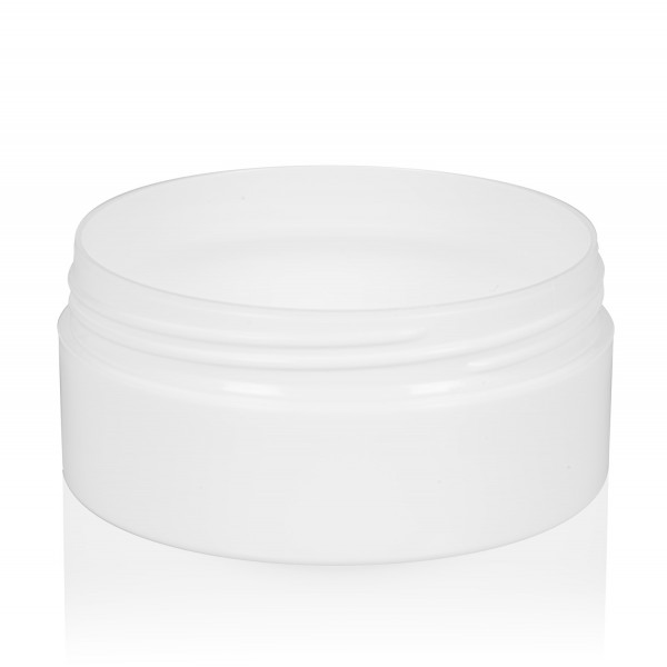 100 ml pot Glossy Sharp PP blanc