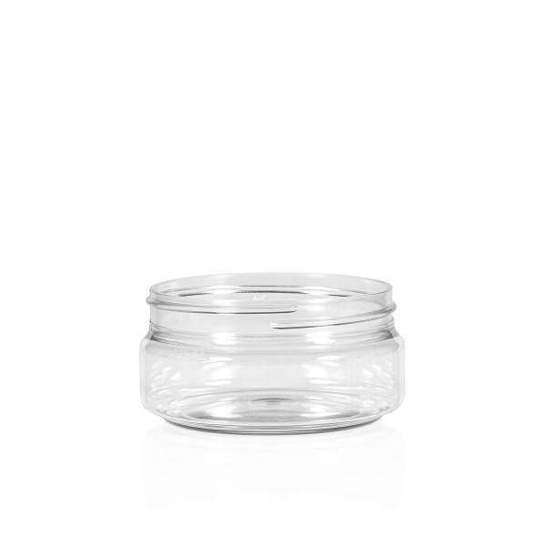 100 ml pot Clear Cylinder PET transparent