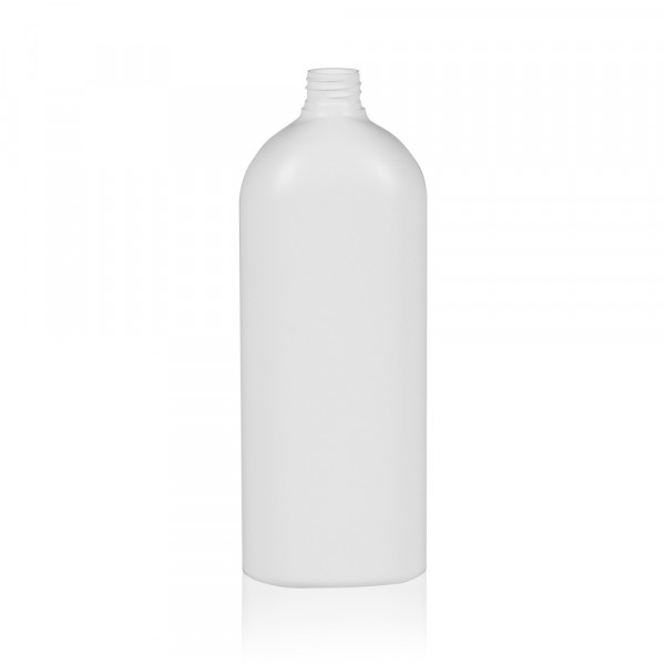 1000 ml flacon Basic Oval HDPE naturel 28.410