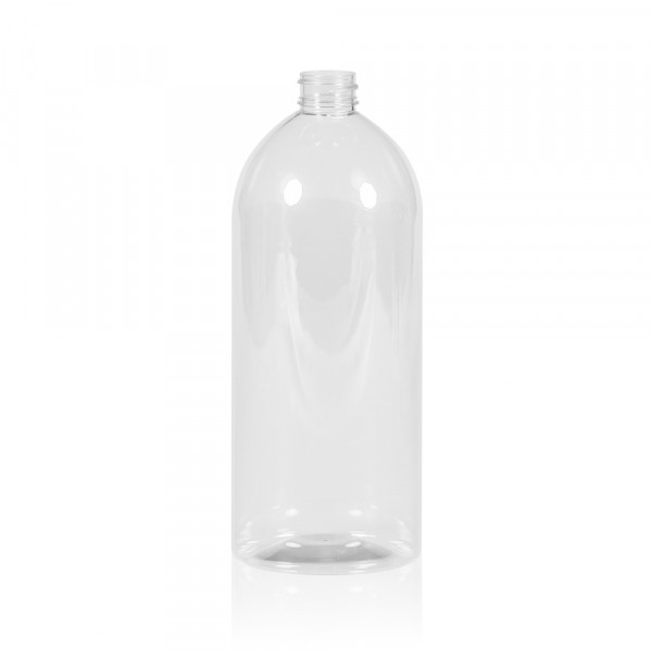 1000 ml flacon Basic Round PET transparent 28.410