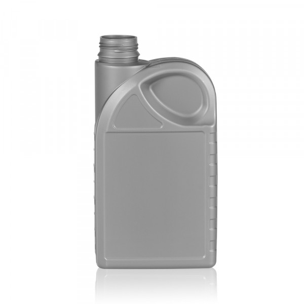 1000 ml flacon Oil HDPE argent