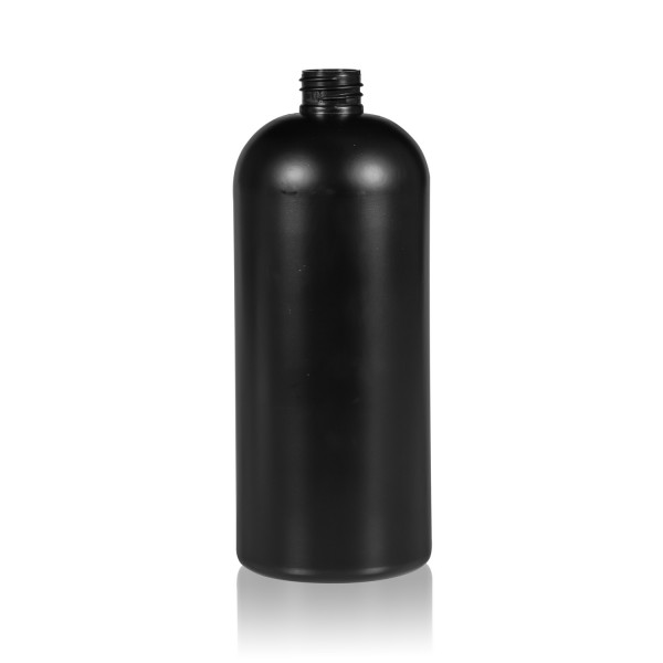 1000 ml flacon Basic Round HDPE noir 28.410