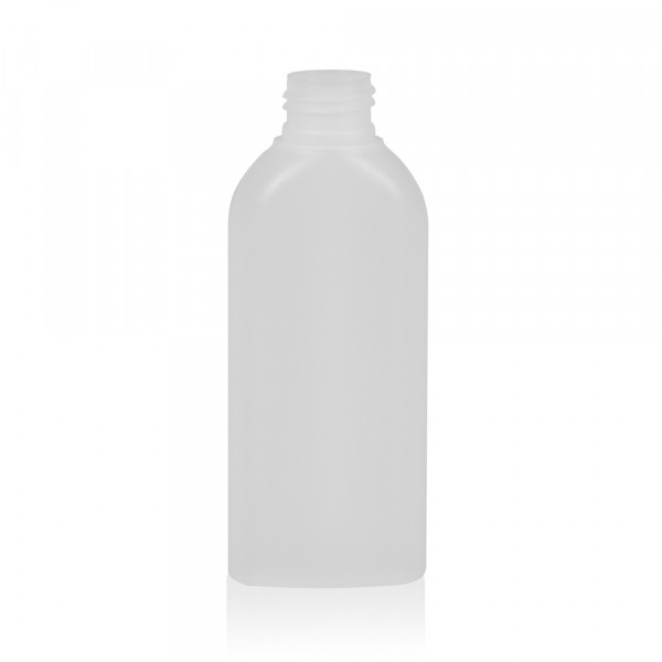 125 ml flacon Basic Oval HDPE naturel 24.410