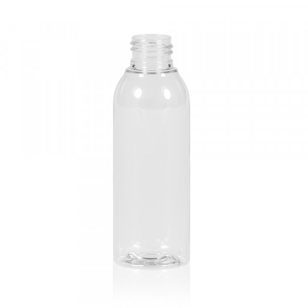 125 ml flacon Basic Round PET transparent 24.410