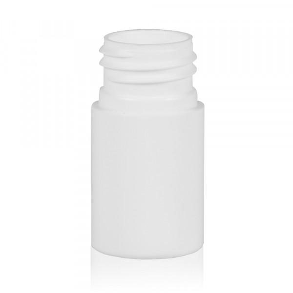 15 ml flacon Basic Round HDPE blanc 24.410