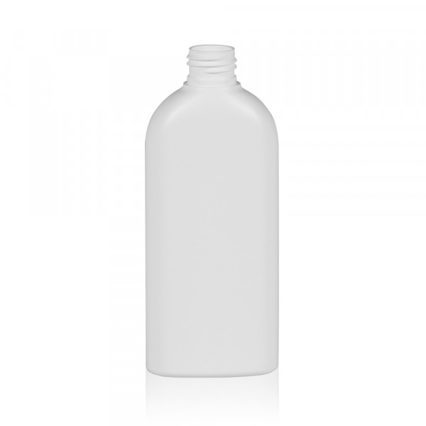 200 ml flacon Basic Oval HDPE blanc 24.410