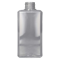 250 ml flacon Basic Rectangle PET Transparant