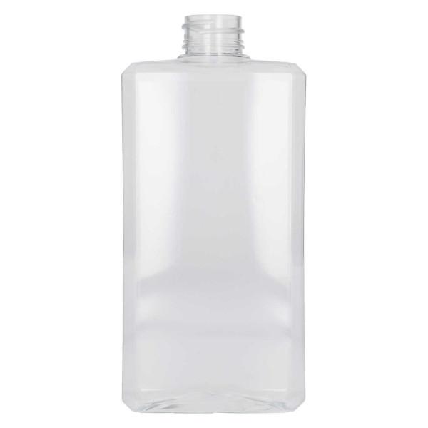 500 ml flacon Basic Rectangle PET Transparant