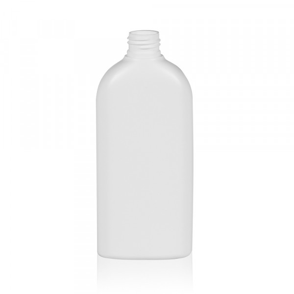 250 ml flacon Basic Oval HDPE blanc 24.410