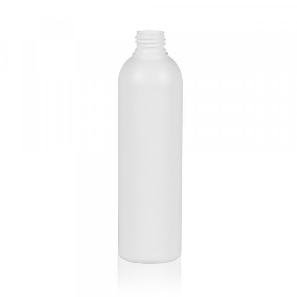 250 ml flacon Basic Round HDPE blanc 24.410