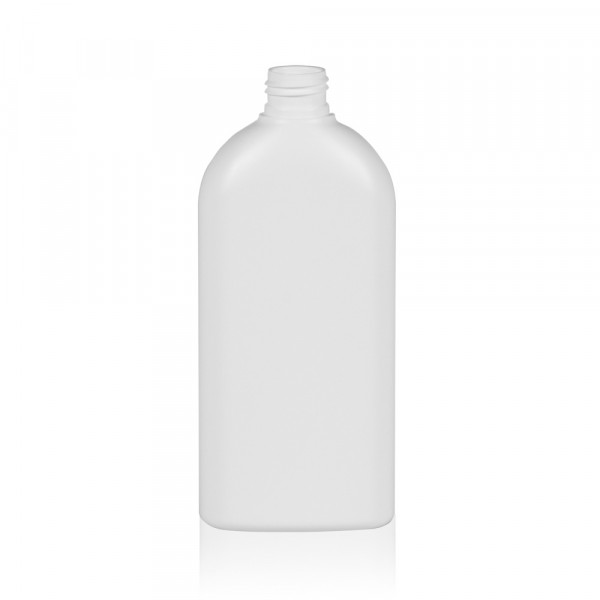 300 ml flacon Basic Oval HDPE blanc 24.410
