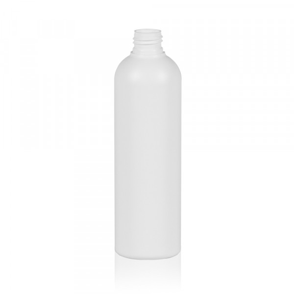 300 ml flacon Basic Round HDPE blanc 24.410