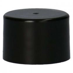 bouchon à visser lisse PP Noir 28.410