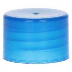 bouchon à visser lisse PP Bleu 28.410