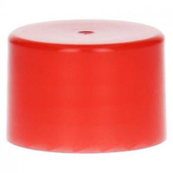 bouchon à visser lisse PP Rouge 28.410