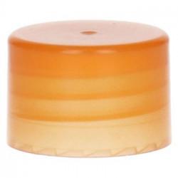 bouchon à visser lisse PP Orange 28.410