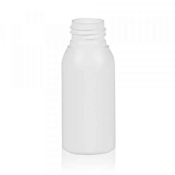 50 ml flacon Basic Round HDPE blanc 24.410
