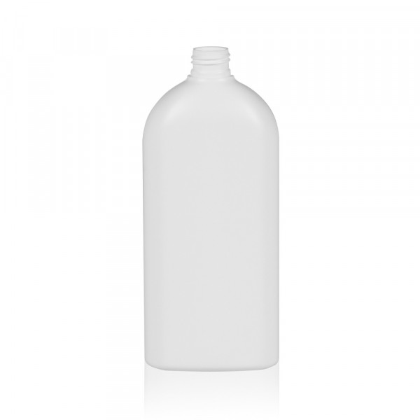 500 ml flacon Basic Oval HDPE blanc 24.410