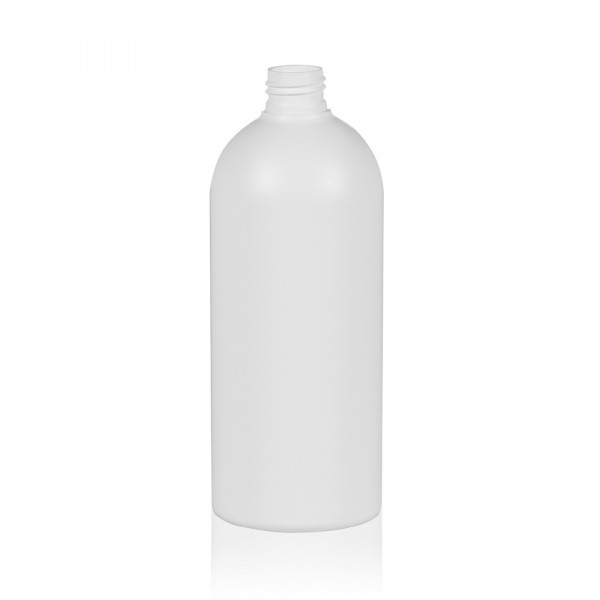500 ml flacon Basic Round HDPE blanc 24.410