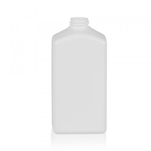 500 ml flacon Standard Square HDPE blanc 28.410