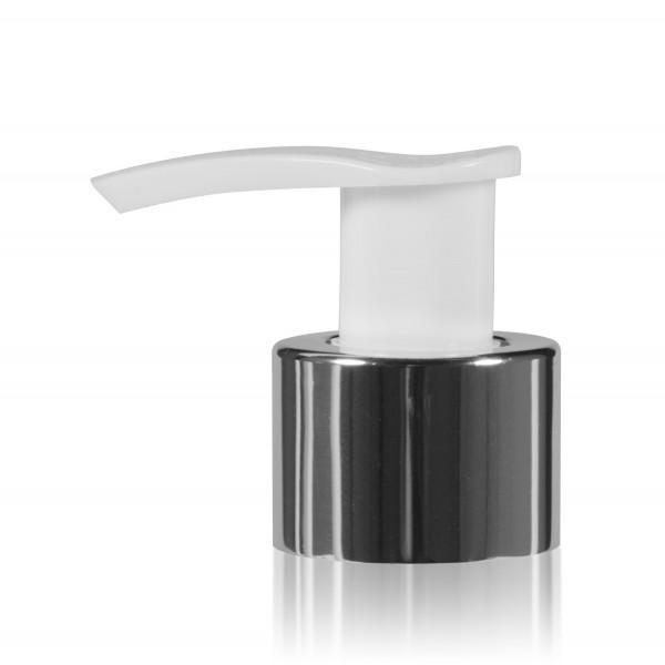 Pompe dispenser PP chrome/blanc 24.410