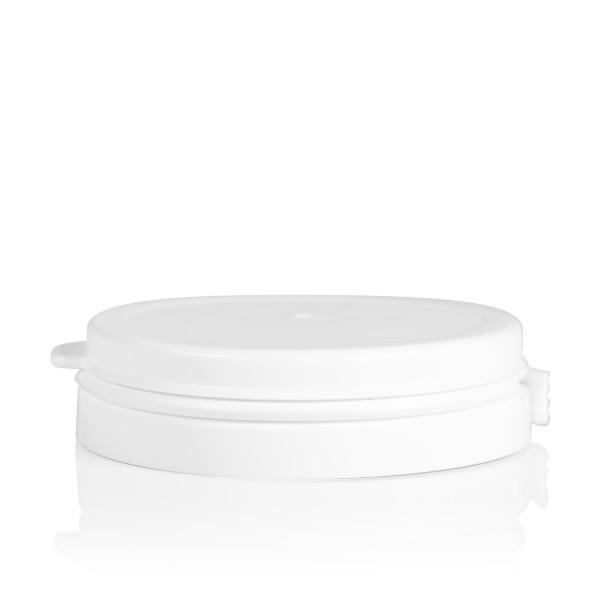 Couvercle garantie Pharma cylinder 60 mm blanc