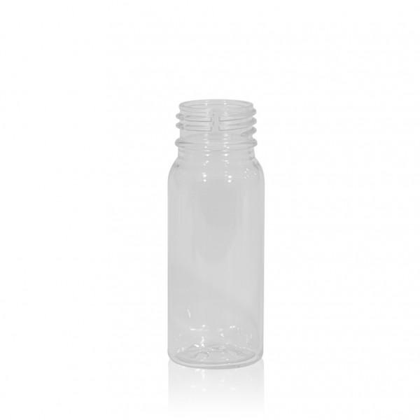 50 ml flacon de jus Juice mini shot PET transparent 28PCO
