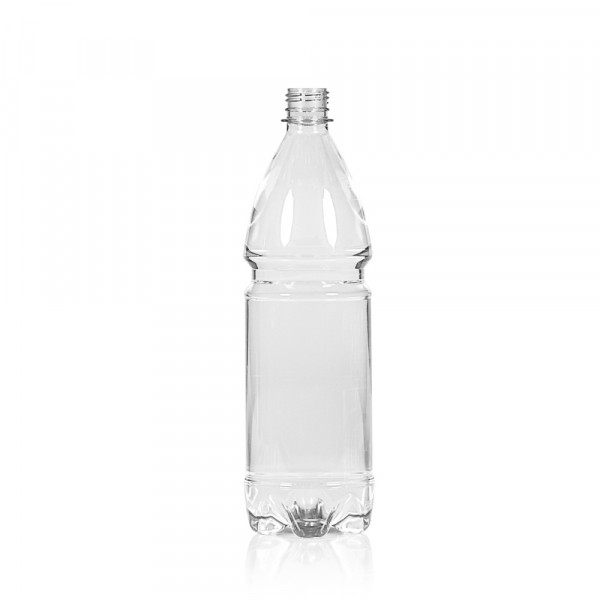 1000 ml flacon Water PET transparent 28PCO